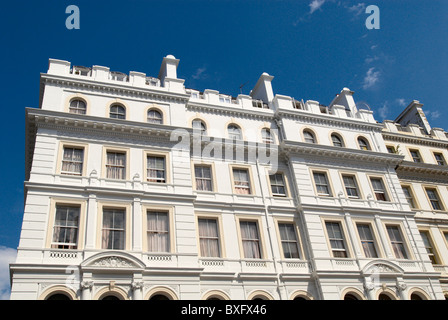 Grand Victorian townhouses London UK - Stock Photo