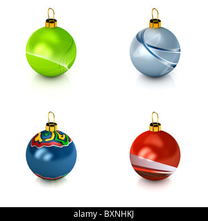 Christmas ball over white - Stock Photo