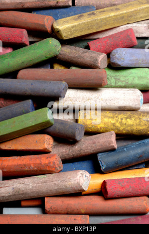 Artist chalks and pastels - Stock Photo