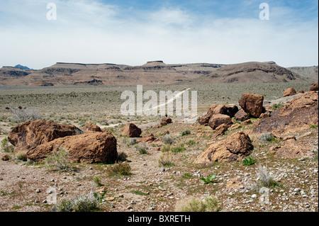 Wild Horse Mesa, Mojave National Preserve - Stock Photo