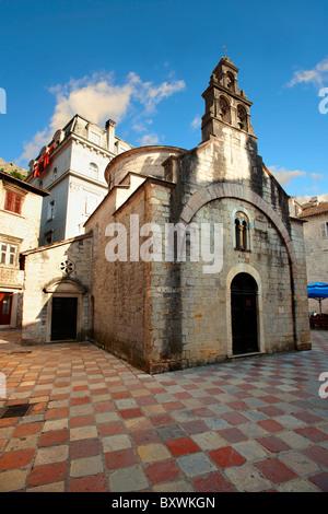 St Luke church, St Lukes Square, Kotor Montenegro - Stock Photo