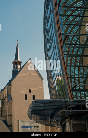 Erangelischen Church and department store, Cologne, Germany. - Stock Photo