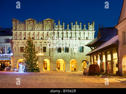 Kazimierz Dolny - The Market Square, Old Town, Poland - Stock Photo