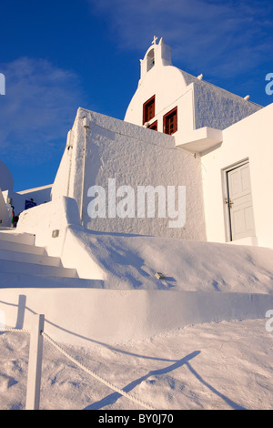 oia ( Ia ) Santorini orthodox churches - Greek Cyclades islands - Photos, pictures and images - Stock Photo