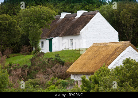 Cottage home of Patrick Pearse, Irish rebel leader, now a National Monument near Ros Muc, Connemara, County Galway, - Stock Photo
