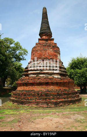 Buddhist ancient temple in Ayutthaya, Thailand. - Stock Photo