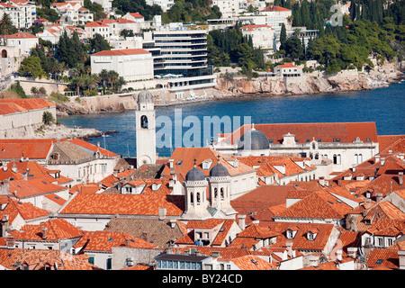 Dubrovnik Old City on the Adriatic Sea in Croatia, South Dalmatia region - Stock Photo