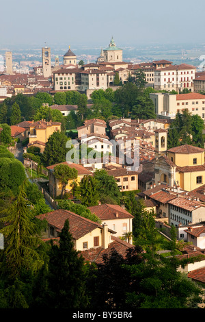 View over Bergamo, Lombardy, Italy - Stock Photo