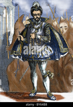 HENRY III of France (1551-1589). King of France (1574-1589). - Stock Photo