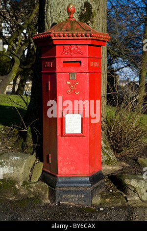 Victorian letterbox / pillarbox in Buxton, Derbyshire. UK. - Stock Photo