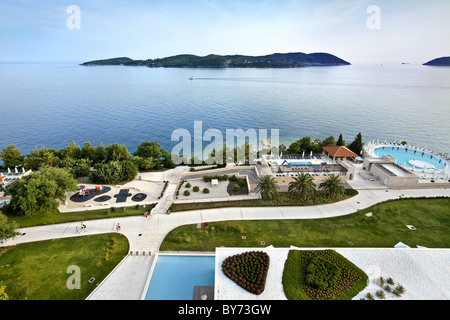 View from Hotel Radisson Blu, Dubrovnik, Dalmatia, Croatia - Stock Photo