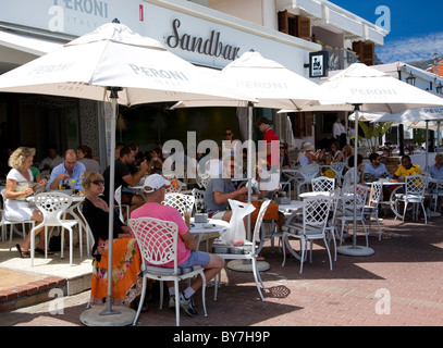 Sandbar cafe in Camps Bay - Stock Photo