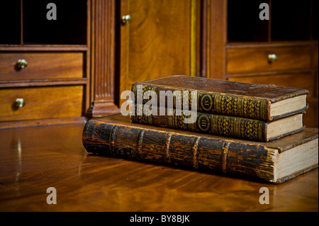 Stack Of Three Old Books - Stock Photo