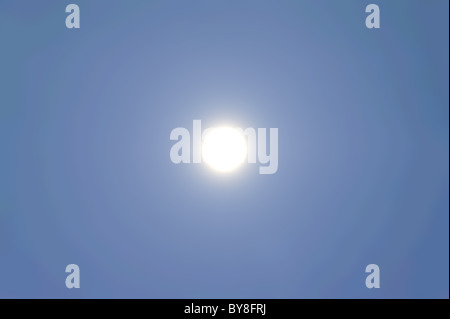 The full Moon in an unflawed sky - Stock Photo