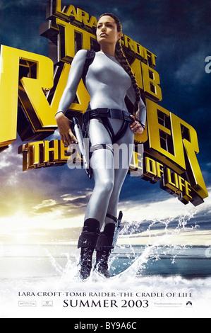 Lara Croft Tomb Raider Cradle of Life Year  2003 - USA Director  Jan de Bont Angelina Jolie  Movie poster (USA) - Stock Photo