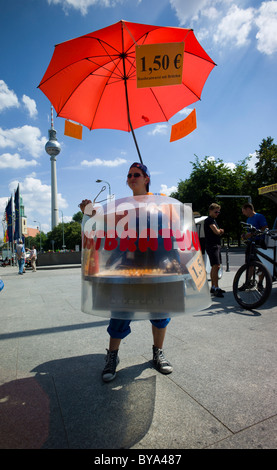 Traditional grilled sausage seller, Museum Island, Berlin, Germany, Europe - Stock Photo