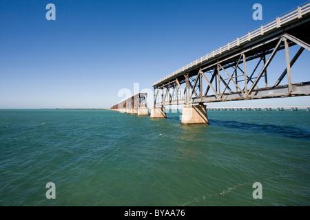 Bahia Honda Rail Bridge, Florida Keys, Florida, United States of America, USA - Stock Photo