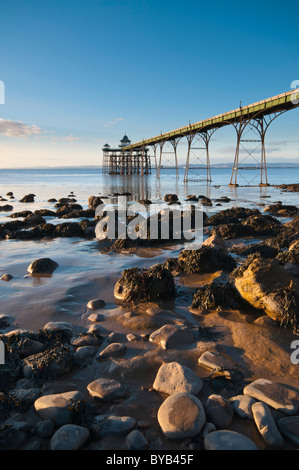 Grade 1 listed Victorian Pier, Clevedon, North Somerset, UK - Stock Photo