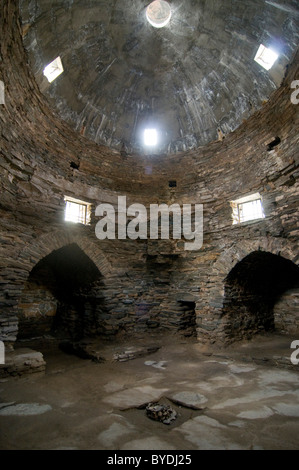 Caravanserai, stone house, Tash Rabat, Kyrgyzstan, Central Asia - Stock Photo