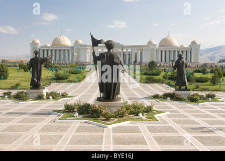Monument to the Independence of Turkmenistan, Ashgabat, Turkmenistan, Central Asia - Stock Photo