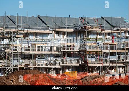 an affordable housing scheme under construction near bristol, uk - Stock Photo