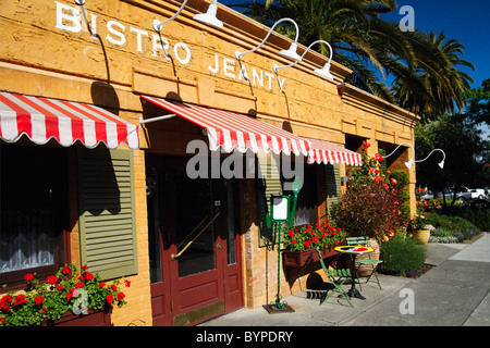 Entrance of a French Bistro, Yountville, Napa Valley, California - Stock Photo