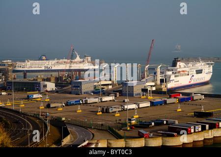 Dover ferry port, Dover, Kent UK - Stock Photo