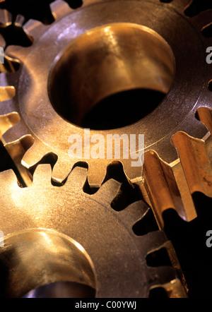 Gear Cogs Still Life Industry Mechanical Gears - Stock Photo