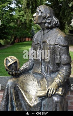 Nicholas Copernicus Monument, Castle Museum of Bishop's Castle, Allenstein, Olsztyn, Mazury, Poland, Europe - Stock Photo