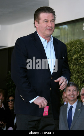 ALEC BALDWIN ALEC BALDWIN RECEIVES A STAR ON THE HOLLYWOOD WALK OF FAME HOLLYWOOD LOS ANGELES CALIFORNIA USA 14 - Stock Photo