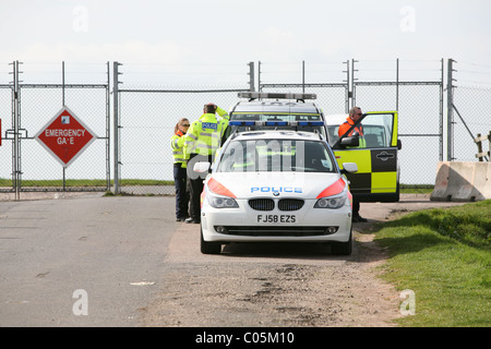 highways agency vehicle on patrol at the east midlands airport - Stock Photo