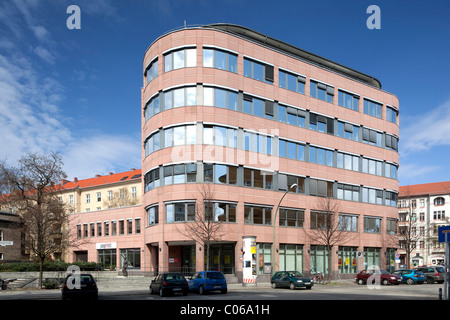 Office building, Torstrasse, editorial office of Junge Welt newspaper, Berlin-Mitte, Berlin, Germany, Europe - Stock Photo