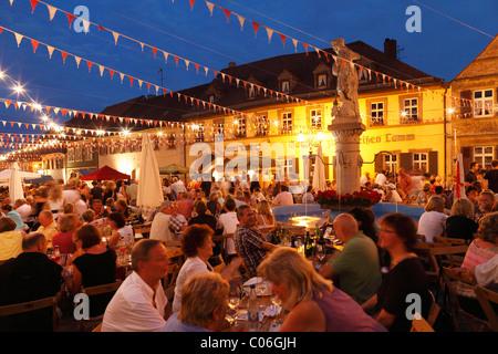 Wine festival, Sommerach, Main-Franconia region, Lower Franconia, Franconia, Bavaria, Germany, Europe - Stock Photo