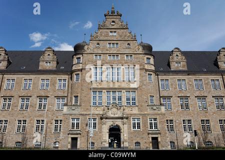 District court, pomous neo-Renaissance building, Oberhause, Ruhr Area, North Rhine-Westfalia, Germany, Europe - Stock Photo