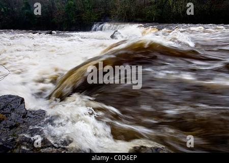 Aysgarth Falls, Wensleydale, Yorkshire Dales - Stock Photo
