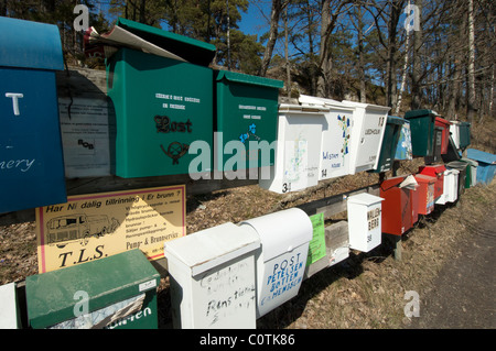 Lots of mailboxes in a row - Stock Photo