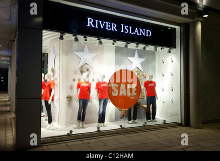 sales at River Island shop, UK - Stock Photo