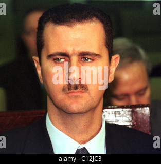CAIRO, EGYPT -- 22 OCT 2000 -- SYRIAN PRESIDENT BASHAR EL-ASSAD, AT A SESSION OF THE ARAB LEAGUE EMERGENCY SUMMIT. - Stock Photo
