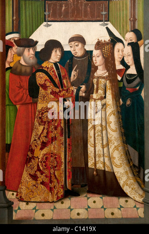 Detail: The Life and Miracles of Saint Godelieve, last quarter of 15th century, by Master of the Saint Godelieve - Stock Photo