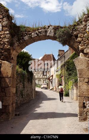 France, Allier, village of Verneuil en Bourbonnais - Stock Photo