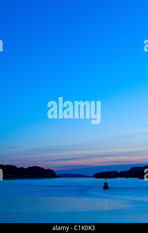 Sunset over the Oban Bay, Scotland - Stock Photo