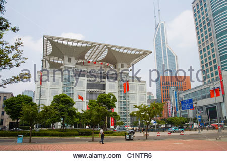 Shanghai, Urban Planning Exhibition Center, Peoples Square, China - Stock Photo