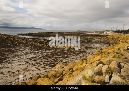 Republic of Ireland, County Galway, Galway Bay at low tide - Stock Photo