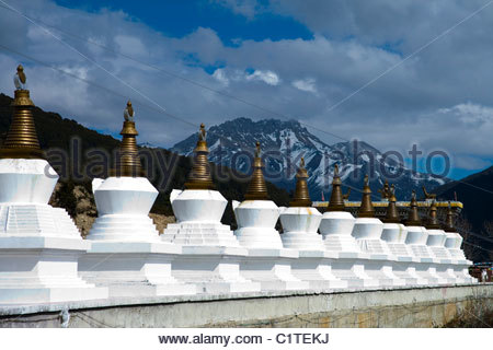 Meili Snow Mountain, Shangri La, Diqing, Yunnan, China - Stock Photo