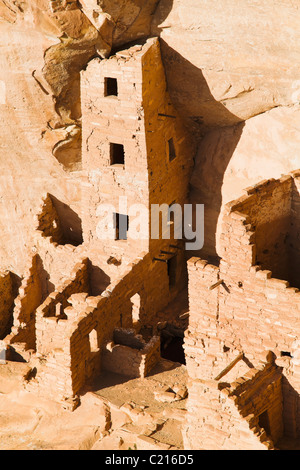 Square Tower House in Mesa Verde National Park, Colorado, USA. - Stock Photo