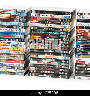 Large collection of DVD's - Stock Photo