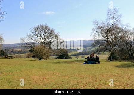 Newlands Corner on Albury Down part of the North Downs near Guildford, Surrey, England UK - Stock Photo