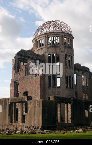 Genbaku Dome (Atomic Bomb Dome), Hiroshima Peace Memorial Park, Hiroshima, Japan. - Stock Photo