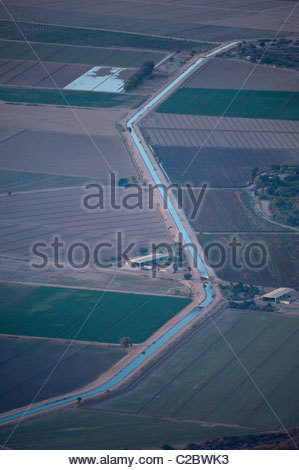 An irrigation diversion canal of the Colorado River in Baja, Mexico. - Stock Photo