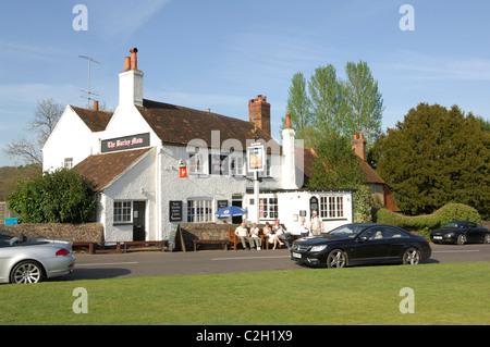 The Barley Mow Pub Tilford near Farnham Surrey UK - Stock Photo
